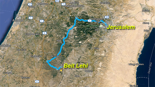 Map of Beit Lehi